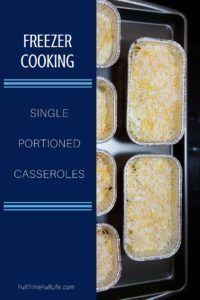 Recently, I stocked my freezer with 16 single serving meals that can be pulled out and put in the oven... and just in time for Fall weather! Here is the list of the three casseroles that I made. #Freezer Cooking #Recipes #Single Serve Meals