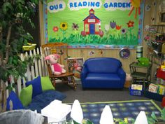 The reading garden. Done and done.