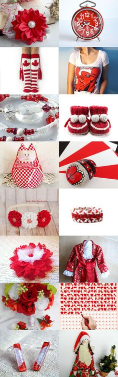 RED and WHITE DELIGHTS by Vickie Wade on Etsy--Pinned+with+TreasuryPin.com