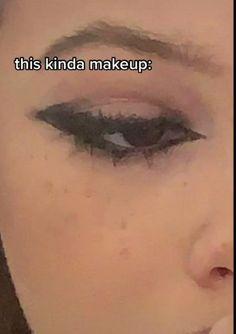 Cute Makeup Looks, Makeup Eye Looks, Eye Makeup Art, No Eyeliner Makeup, Pretty Makeup, Skin Makeup, Eyeliner Ideas, Indie Makeup, Edgy Makeup