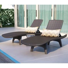 You'll love the Halulu 3 Piece Chaise Lounge Set at Wayfair - Great Deals on all Outdoor  products with Free Shipping on most stuff, even the big stuff.
