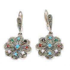 Cercei din argint cu pietre semipretioase Drop Earrings, Stone, Silver, Jewelry, Rock, Jewlery, Jewerly, Schmuck, Drop Earring