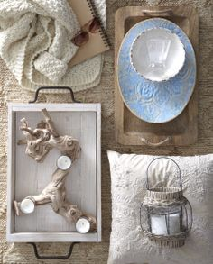Discover unique decorative ideas for your home. HomeSense has a fine selection of Bed and Bath & Home Décor products at great prices. Find a HomeSense store near you. Driftwood Candle Holders, Homesense, Decoration Inspiration, Backyard Projects, Rustic Chic, Home Accessories, Photos, Pillows, House Styles