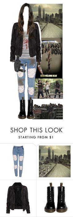 """""""random Walking Dead set"""" by shinedownsiren ❤ liked on Polyvore featuring American Eagle Outfitters, AllSaints and Dr. Martens"""