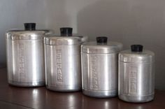 Vintage Canister Set.  I had this set, not a lot of choices in the 50's. Nearly all of my friends had the same set.