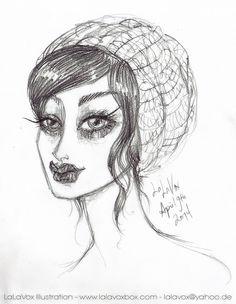 © LaLaVox - www.lalavoxbox.com - pencil sketch