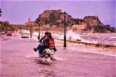 Hillside Village, Corfu Town, Corfu Island, Corfu Greece, Cypress Trees, Islands, Scenery, November, Beautiful