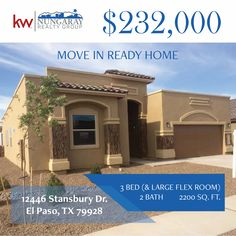 Carefree Homes-Americas Estates New Year, New Home! Call Moises at 915-342-8066.