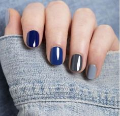 Pictures of Blue Nail Art Designs 2019 - Nails C Mix Match Nails, Manicure E Pedicure, Pedicure 2017, Manicure Ideas, Mani Pedi, Nail Polish Colors, Color Nails, Gel Polish, Blue Nails