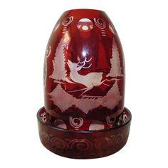 Red Glass, Glass Art, Fairy Lamp, Faberge Eggs, Ship Art, Vintage Bohemian, Ruby Red, Tea Set, Vintage Christmas