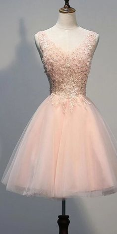 Blush Pink Backless V-neck Lace Beaded Homecoming Dresses, Short Prom Dress, Source by musebridals_official dress short Cheap Homecoming Dresses, Cute Prom Dresses, Sweet 16 Dresses, Pretty Dresses, Short Dresses, Backless Dresses, Quinceanera Dresses Short, Grad Dresses, Party Dresses Uk