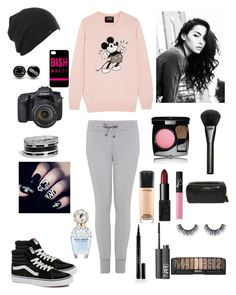 """Outfit for ""at home"" with black stuff :D"" by pink-maja ❤ liked on Polyvore featuring beauty, Markus Lupfer, Gem&i, GUESS, Vans, Gucci, Elizabeth Arden, NARS Cosmetics, MAC Cosmetics and Marc Jacobs"