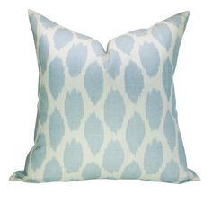 This listing is for one Adras Soft Windsor Blue on Tint pillow cover with linen backing. DESCRIPTION Designer: Quadrille Colors: Pale sky blue, ivory