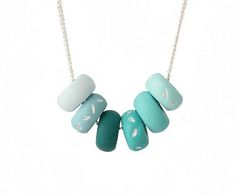 Turquoise Blue Bead Necklace for Women, handmade colourful jewellery by Lottie Of London
