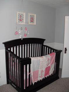 Nautical baby girl's nursery