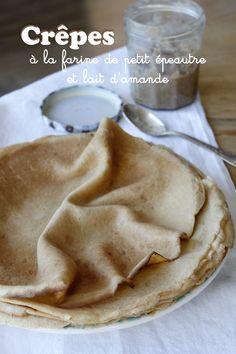 Crêpes à la farine de petit épeautre et lait d'amande – Mes brouillons de cuisine