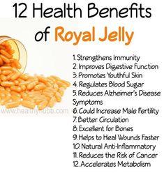 Health Benefits of Royal Jelly: Why You Need to Try It! 12 Health Benefits of Royal Health Benefits of Royal Jelly! Dr Oz, Royal Jelly Benefits, Health Benefits, Health Tips, Honey Benefits, Regulate Blood Sugar, Disease Symptoms, Royal Jelly, Vitamins