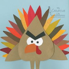 Cindy deRosier: My Creative Life: Angry Birds Turkey Thanksgiving Craft Paper Plate Crafts, Paper Crafts For Kids, Glue Crafts, Turkey Project, Turkey Craft, Thanksgiving Crafts, Holiday Crafts, Construction Paper Crafts, Recycled Crafts Kids