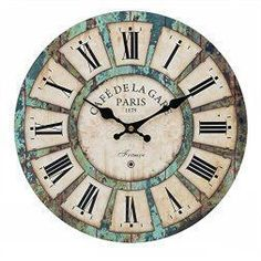 One of the best home décor use of accents I have seen. Easy and great house decorating ideas. As blue wall art is truly beautiful trendy  and eye catching. Blue home wall art décor  is also the epitome of classy, stylish and modern. Truly one the best most pretty blue  decorative accents on Pinterest!      1French Tuscan Wood blue Wall Clock, Carpenter