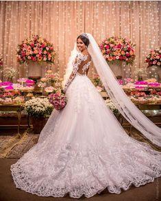 White Lace Wedding Dress, Stunning Wedding Dresses, Long Wedding Dresses, Cheap Wedding Dress, Bridal Dresses, Princess Bride Dress, Wedding Dress Accessories, Mermaid Dresses, Marie