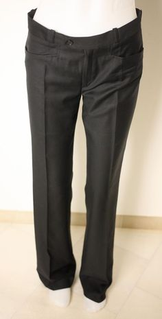 JOSEPH LADIES BLACK 100% WOOL TROUSERS-UK 10-USED-EXCELLENT CONDITION-VERY CHIC