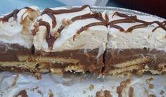 Πεντανόστιμο δίχρωμο μπισκοτογλυκό τούρτα με ζαχαρούχο και merenda Cooking Time, Cooking Recipes, Cold Desserts, Greek Recipes, Love Is Sweet, Tiramisu, Food And Drink, Sweets, Chocolate