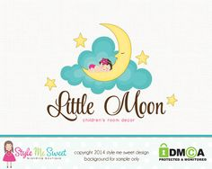 Premade Newborn Logo Baby Logo Moon Logo by stylemesweetdesign, $55.00