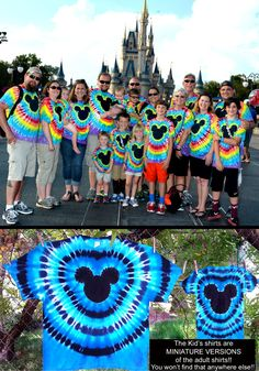 The ORIGINAL Custom Mickey Mouse Famous Hand Made 'Tie-Dye from Heavenly Daze family shirts! Onesies to adult Disney Ties, Disney Shirts, Diy Tie Dye Shirts, Diy Shirt, Tye Dye, Mickey Mouse Family Shirts, Tie Dye Crafts, Tie Dye Techniques, How To Tie Dye