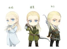 """Legolas from """"Lord of the Rings"""" - Art by BYA"""