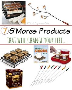 I love smores! Can't wait to try some of these. smores products that you never knew you needed, if you love smores these are LIFE CHANGING, make the campfire recipe or camping menu so much easier