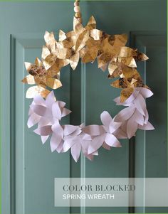 A wreath to take your home from winter to spring made from paper leaves!