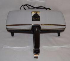 Vintage Sunbeam Party Grill Press Sandwich Appetizer Snack Maker Model 870…