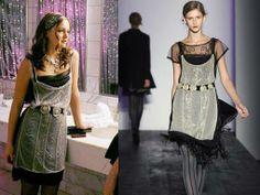 Blair Waldorf in an Alberta Ferreti dress on Gossip Girl