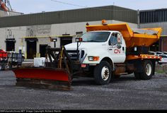 CN 078232 2008 Ford F-750 Snowplow, May 10-2015 Canadian National Railway, Snow Plow, Illinois, Airplane, Monster Trucks, Ford, Vans, Logos, Vehicles