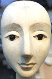 "Head from Venus for ""Venus and Adonis"" for the RSC and Little Angel Puppet Theatre by John Robers Mater, Puppeteer"