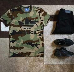 Adidas Shirt/Embellish Jeans/Nike Huarache.