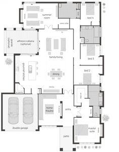 Floor Plan Friday: Summer room, wine cellar, gourmet kitchen