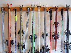 6 Ski Wall Rack by WillowHeights on Etsy Ski Equipment, No Equipment Workout, Garage Organization, Garage Storage, Organizing, Organized Garage, Basement Storage, Basement Ideas, Organization Ideas
