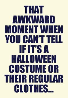 That awkward moment ...
