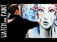 Abstract acrylic portrait Painting Speedpainting demonstration by zAcheR-fineT - YouTube