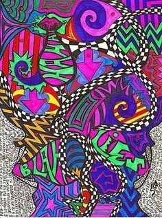colorful sharpie art ideas - Google Search