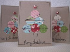 No tutorial but easy to replicate and make your own Christmas cards.