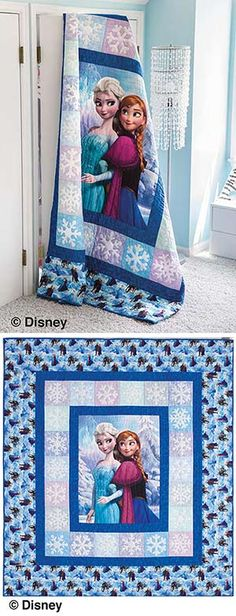DISNEY'S Frozen SISTERLY LOVE QUILT KIT & Fabric, there was someone looking for Frozen Fabric... found it @ keepsake quilting