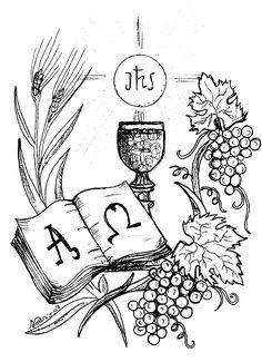 Holy Eucharist - Catholic Coloring Page Boy Coloring, Coloring Pages For Boys, Coloring Pages To Print, Catholic Crafts, Catholic Kids, Première Communion, First Holy Communion, Bible Crafts, Bible Art