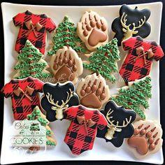 36 Ideas For Baby Shower Cookies Deer Party Ideas Baby Cookies, Baby Shower Cookies, Cookies Et Biscuits, Sugar Cookies, Birthday Cupcakes, Baby Shower Winter, Baby Boy Shower, Diaper Shower, Baby Announcement Cake
