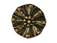 SALE 12 Flower Wheel Metal Shank Buttons Brass by ButtonJones, $13.00