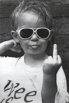 Buy Pyramid America Hi Mum Middle Finger Little Kid Sunglasses Giving The Finger Funny Humorous Photo Cool Wall Decor Art Print Poster Black And White Words, Black And White Picture Wall, Black And White Pictures, Gray Aesthetic, Black And White Aesthetic, Bad Girl Aesthetic, Middle Finger Picture, Middle Finger Meme, Rude Finger