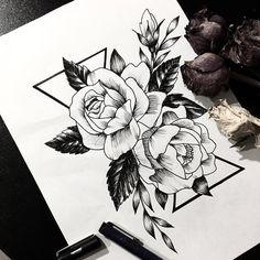 Ideas Tattoo Rose Sketch Tat For 2019 Rose Tattoos, Flower Tattoos, Body Art Tattoos, New Tattoos, Sleeve Tattoos, Tatoos, Tattoo Sketches, Tattoo Drawings, Art Sketches