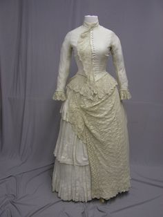 overall view of front of white summer dress