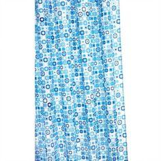 Croydex Geo Mosaic Polyester Fabric Shower Curtain